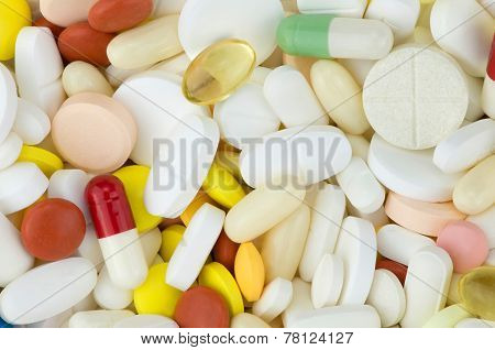 colored drugs pills
