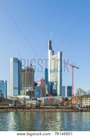 Skyline Of Frankfurt, Germany