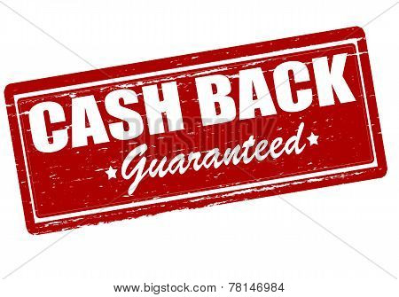 Rubber stamp with text cash back inside vector illustration poster
