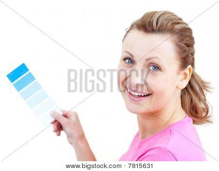 Pretty Woman Choising Colours