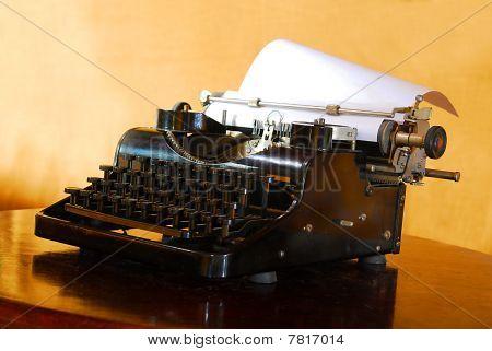 Close-up Of An Old Typewriter