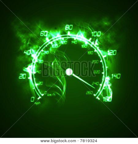 Burning Speedometer