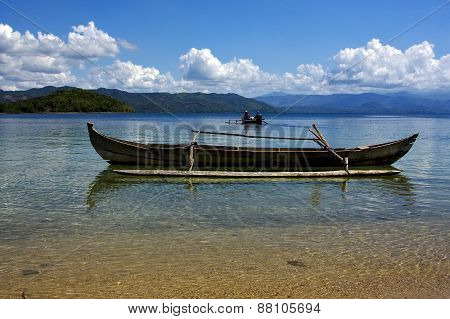 Boats In Madagascar Land