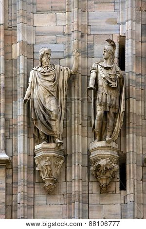 Two Statue In The Church