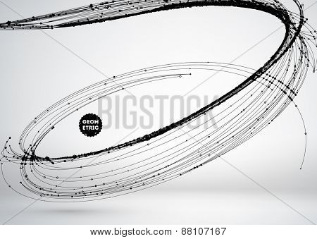 Abstract Background with Dots Array and Lines. Connection Structure. Geometric Modern Technology Concept. Digital Data Visualization. Social Network Graphic Concept poster