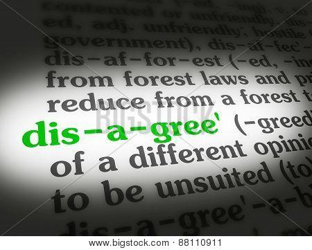 Dictionary Disagree