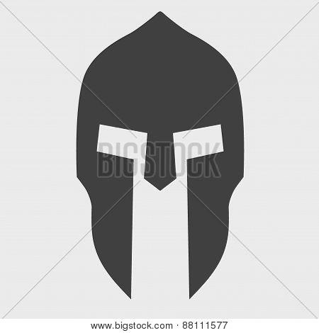 Silhouette of Spartan helmet