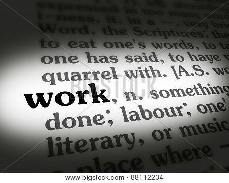 Dictionary Work