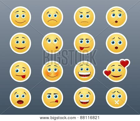 Different Emotions Smileys