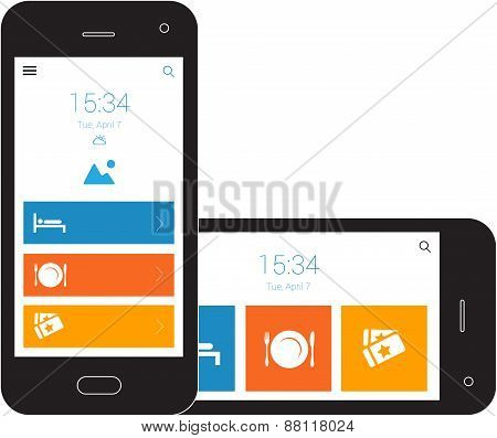 This image is a vector file representing a responsive design blueprint mobile wireframe vector design illustration. poster