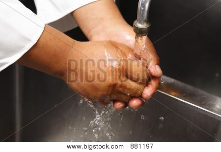 Chef Washing Hand