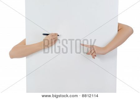 Hand Holding Fountain Pen