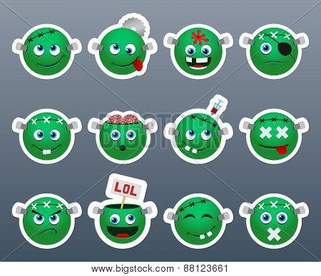 Stickers Frankenstein