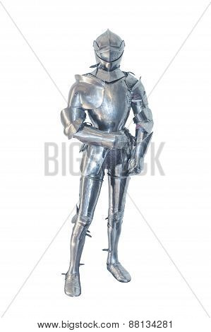 Knight in armor, isolated