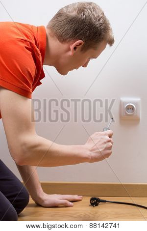Screwdriver In Socket