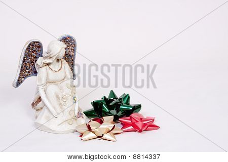 Angel And Christmas Bows