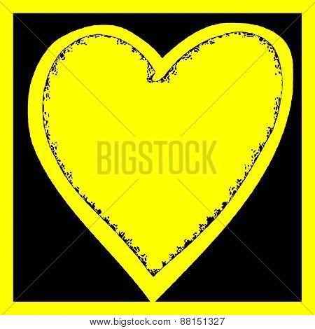 Yellow Heart Illustration 1
