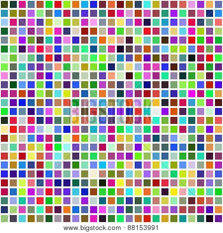 Grid Of Random Colored Squares. Seamless Background. Eps8 Vector