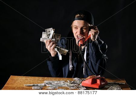 Startled Man With Phone
