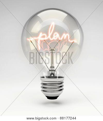 Concept Light Bulb - Plan