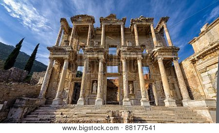 Library of Celsus - ruins of ancient Ephesus in Turkey poster