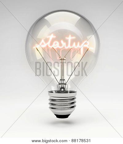 Concept Light Bulb - Startup