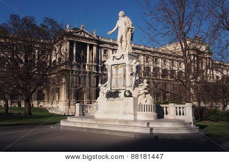 Statue Of Mozart In Burggarten In Vienna
