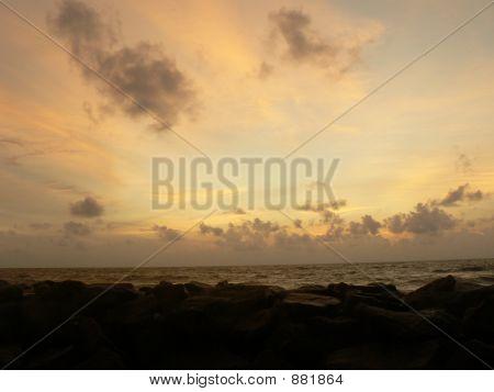 Evening Beauty Of A Beach
