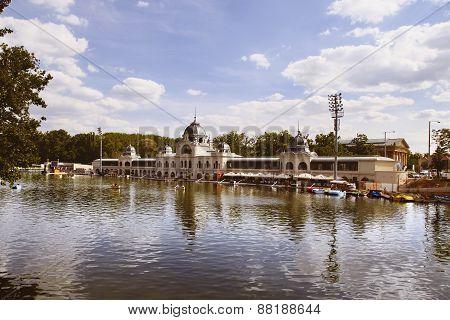 Budapest, Hungary - June 27, 2015: City Park (varosliget) Is A Public Park In Budapest, Hungary Clos