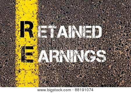 Business Acronym Re - Retained Earnings