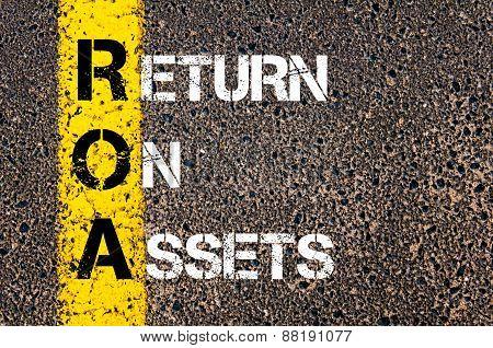 Business Acronym Roa - Return On Assets