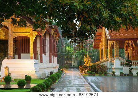 Wat Phra Singh Temple, Chiang Mai, Thailand.