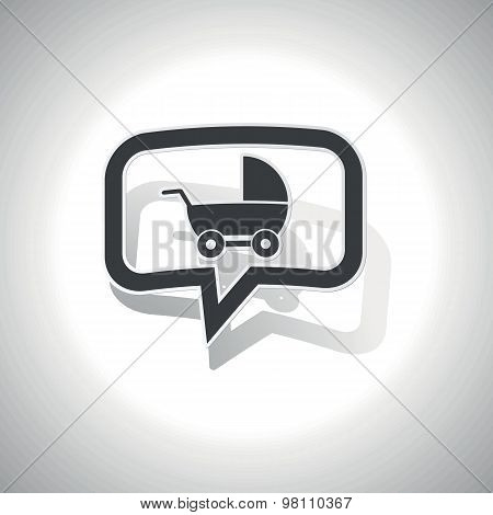 Curved pram message icon