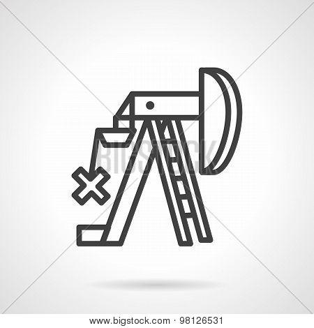 Petroleum extraction line vector icon