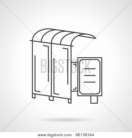 Vector icon for bus station