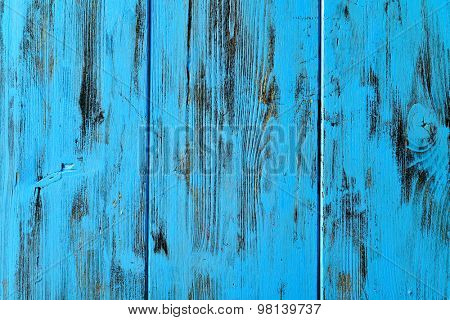 closeup of a surface built of blue rustic wood slats, to use as a background