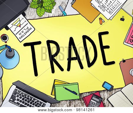 Trade Commerce Exchange Negotiation Economic Concept poster