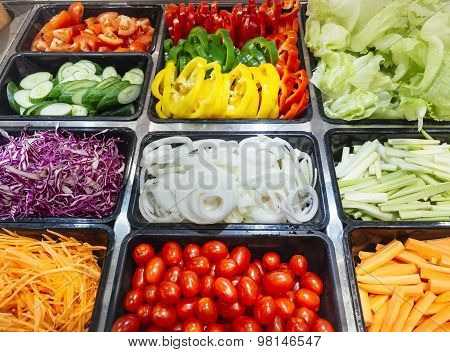 Salad Bar Fresh Vegetables Healthy Food