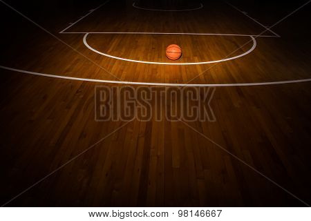 Wooden Floor Basketball Court