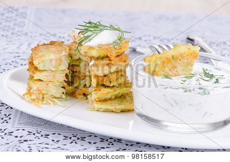 Stack Vegetable Fritters