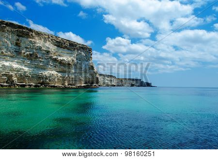 Seascape, Beautiful Views Of The Rocky Cliffs