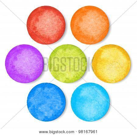 Set Of Watercolor Circles