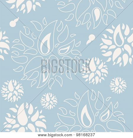 Vector Abstract Floral Seamless Pattern