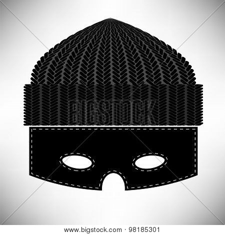 Thief Icon Isolated on Grey Background. Symbol of Robber poster