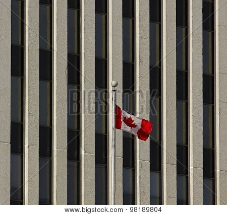 Canadian Flag Office Building