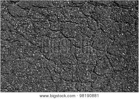 Old asphalt layer - textured road background