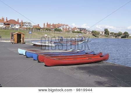 Fairhaven Lake - boats for hire.