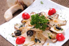 Sauteed oyster mushroom
