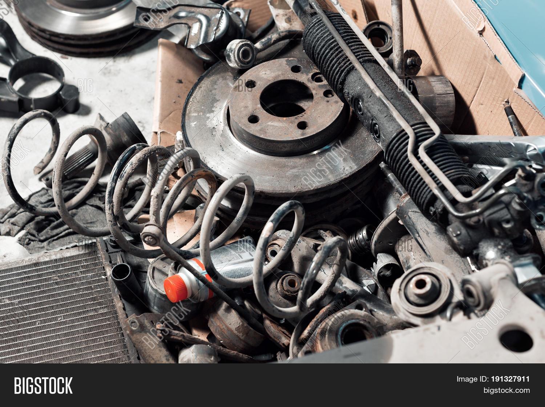 Old Car Spare Parts Service Garage Image & Photo | Bigstock