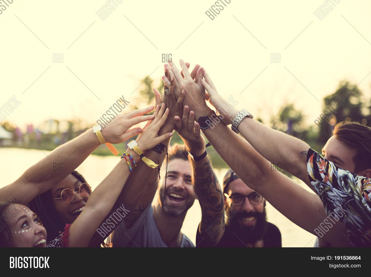 Friends Hands Together Image & Photo (Free Trial) | Bigstock